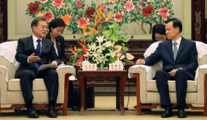 문 대통령-천민얼, 광복군 유적지 복원사업 재개 합의